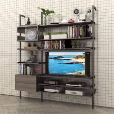 media cabinets for sale 2 bay pole mounted media wall with 2 drawer cabinet modern shelving