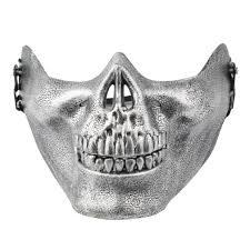 Skeleton Masks For Halloween by Skeleton Mask Half Face Cs Actual Combat Warrior Face Masks