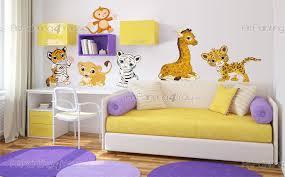 chambre bébé safari stickers muraux chambre bébé safari animaux jungle kit