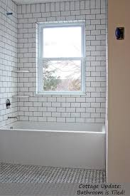 subway tile designs for bathrooms bathroom white subway tile w grout soldier course 90