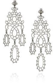 antoinette earrings laurent gandini antoinette sterling silver lace earrings 9