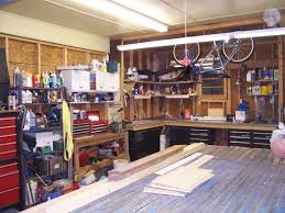 unfinished small spaces garage remodel design with black metal