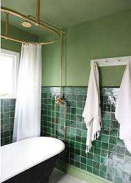 white tile bathroom design ideas contemporary bathroom with green wall and green tiles white tub