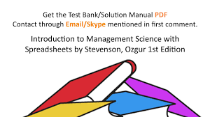practice test bank for introduction to management science with