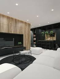 interior design ideas for living room and kitchen living room white sofa white ottoman black rug glass