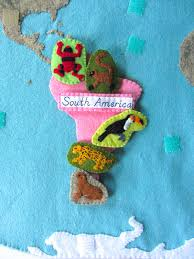 animals of south america for the montessori wall map u0026 quietbook