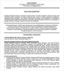 Resume Template Executive Assistant Administrative Assistant Resume 8 Download Free Documents In