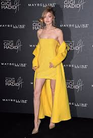 yellow dress gigi hadid yellow ralph dress popsugar fashion