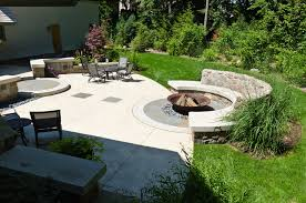 Garden Firepit Cast Iron Pit Landscape Craftsman With Curb Appeal Garden