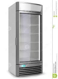 vertical showcase freezer refrigerator stock illustration image