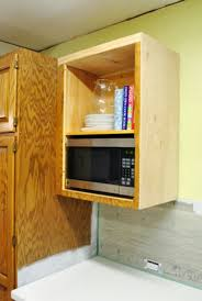 Kitchen Cabinet Microwave Shelf Diy Microwave Shelf For The Home Pinterest Microwave Shelf