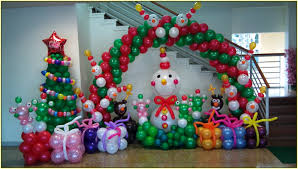 Home Balloon Decoration by Christmas Balloon Decorations Home Design Ideas