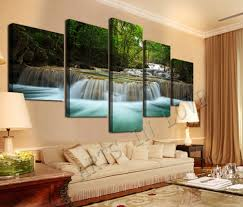 5 pcs large hd seaview with shiptop rated canvas print wall decor