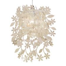 cream vintage shabby chic style ceiling pendant light shade