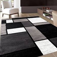 Large Modern Rugs Home Decorative Black And Brown Area Rugs Modern Rug In