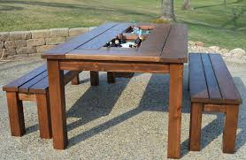 rustic outdoor picnic tables new picnic table bench thedigitalhandshake furniture make a