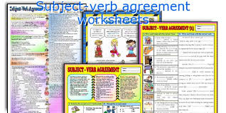 all worksheets difficult subject verb agreement worksheets