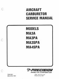 msa aircraft carburetor service manual models ma3a ma3pa ma3spa