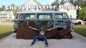 volkswagen van interior ideas easy cheap diy interior panels making interior panels for the