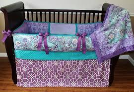 emma purple lavender violet and teal baby bedding crib set