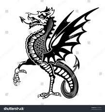vintage medieval dragon drawing stock vector 63157600 shutterstock