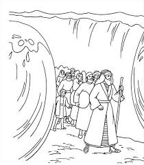 Coloring Pages Moses And The Red Sea Bell Rehwoldt Com Bible Coloring Pages Moses