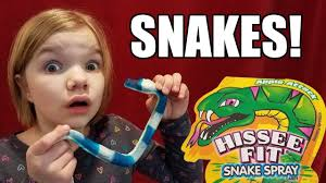 eating snakes giant gummy snake candy kid candy review