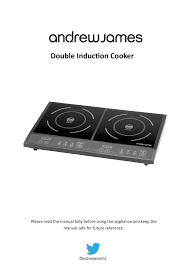 andrew james aj000127 double induction hob user manual 12 pages