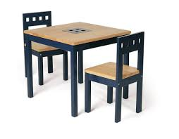 Simple Wooden Chair And Table Furniture Simple Square Children Table With Veneered Oak Wood