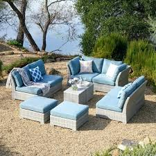 lovely blue patio set or piece grey wicker patio furniture set
