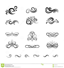 vintage vector decorative elements and ornaments stock vector