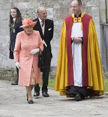 the queen arrives at alexandra knatchbull u0027s wedding as prince