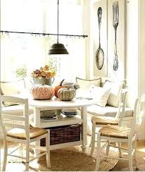 table with bench seat built in kitchen table bench theminamlodge com