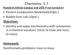 stoichiometry objectives identify what stoichiometry is in