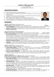 Sample Resume For Business Development Manager Resume For Sports Resume For Your Job Application