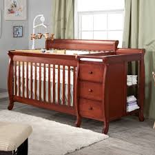 Oak Convertible Crib by 4 In One Crib With Changing Table U2014 Thebangups Table Beneficial