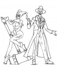batman joker coloring pages joker and harley quinn coloring page coloring home