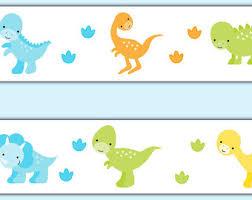 Dinosaur Wallpaper Etsy - Kids room wallpaper borders