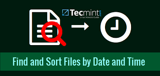tutorial linux sort how to find and sort files based on modification date and time in linux