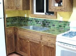 how to install a kitchen backsplash green subway tile kitchen backsplash handmade arts and crafts tile