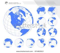 world map globe image vector globe shapes collection free vector stock