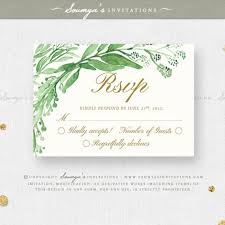 wedding invitations greenery greenery green leaves wedding invitation set eucalyptus leaf