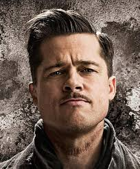 brad pitts haircut in seven brad pitt side parted hairstyle in inglourious basterds
