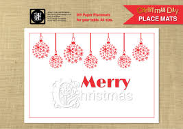 christmas placemats baubles template