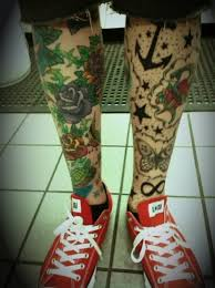 flower and butterfly leg designs for