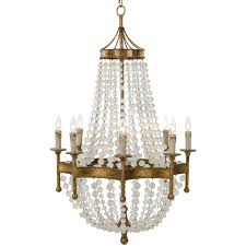 bead chandelier andrew design scalloped frosted bead chandelier