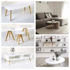 white nest of tables scandinavian white grey retro furniture side coffee nest tables