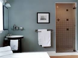 great gray guest bathroom ideas with wall mount towel bar in