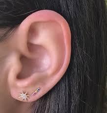 gold bar stud earrings rainbow bar stud earrings zoe lev jewelry