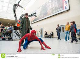 doctor octopus halloween costume superhero and evil villain fighting royalty free stock image